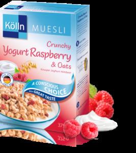 Crunchy Yogurt Raspberry & Oats