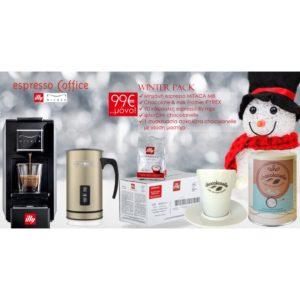 WINTER PACK: Mitaca m8 + PYREX Milkfrother + 90 κάψουλες illy mps + Chocolanelle Mastic + φλυτζάνι